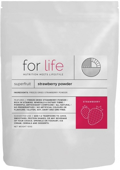 For Life Strawberry Powder 100g