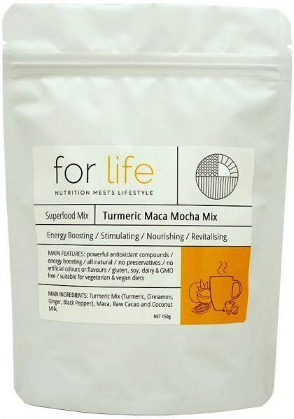 For Life Turmeric Maca Mocha Mix Powder 150g