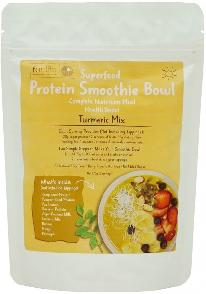 For Life Turmeric Protein Smoothie Bowl Mix 175g