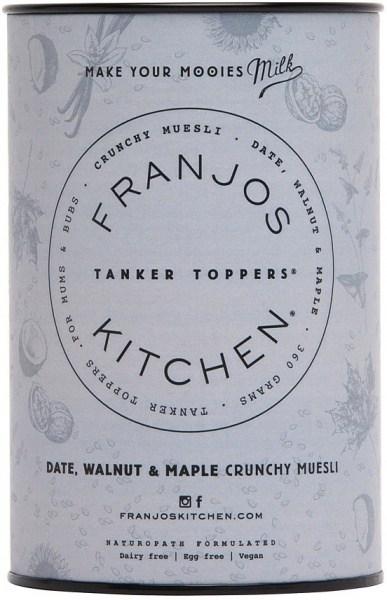 Franjo's Kitchen Date, Walnut & Maple Tanker Topper Lactation Crunchy Muesli 360g