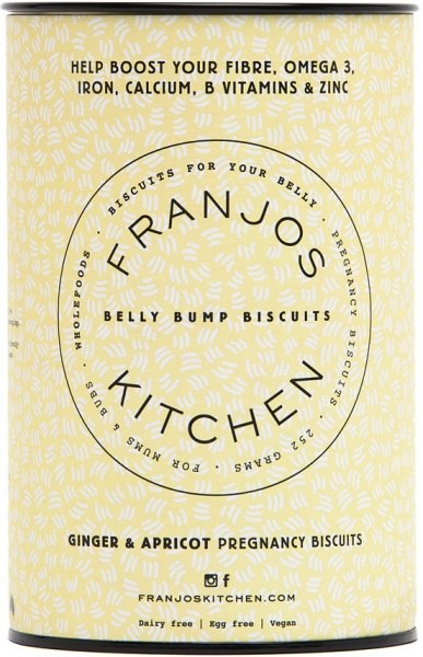 Franjo's Kitchen Ginger & Apricot Belly Bump Pregnancy Biscuits 252g