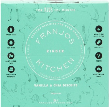 Franjo's Kitchen Vanilla & Chia Kinder Biscuits 144g