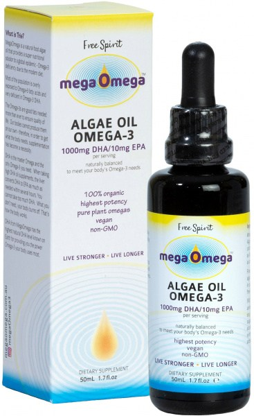 Free Spirit MegaOmega Algae Oil Omega -3 50ml