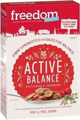 Freedom Foods Active Balance Multigrain & Cranberry 350g