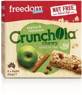 Freedom Foods Apples & Cinnamon Crunchola Chewy Bars 210g
