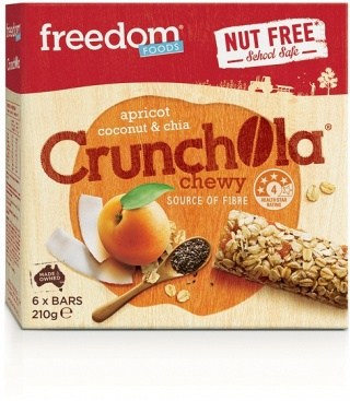 Freedom Foods Apricot Coconut & Chia Crunchola Chewy Bars 210g