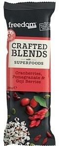 Freedom Foods Crafted Blends Cranberries, Pomegranate & Goji Berries Bars 12x28g