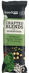 Freedom Foods Crafted Blends Green Bars 12x25g