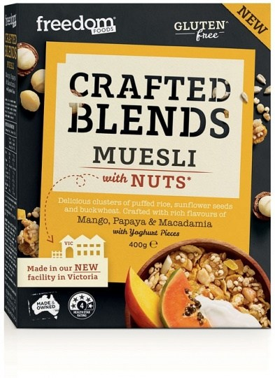 Freedom Foods Crafted Blends Mango, Macadamia & Papaya Muesli 400g
