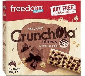 Freedom Foods Crunchola Chewy Choc Chip Bars 210g