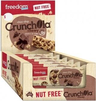 Freedom Foods Crunchola Chewy Choc Chip Bars  18x35g