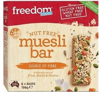 Freedom Foods Nut Free Muesli Bar (6 Bars)  198g