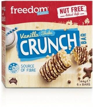 Freedom Foods Vanilla Shake Crunch Bars (6Bars) 144g