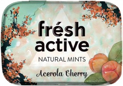 Fresh Active S/F Acerola Cherry Mints in Collectable Tin 20g