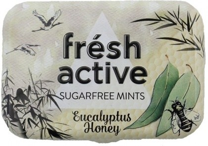 Fresh Active S/F Eucalyptus Honey Mints in Collectable Tin 20g