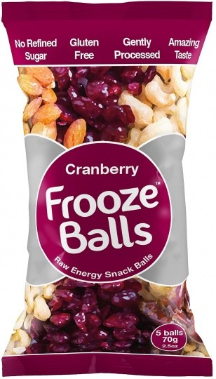 Frooze Balls Raw Energy Snack Balls Cranberry (5balls)  70g