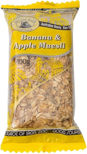 Future Bake Banana & Apple Muesli Slice 100g