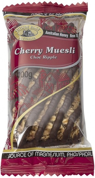 Future Bake Cherry Choc Ripple Muesli Slice 100g