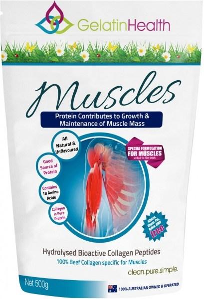 Gelatin Health MUSCLES Collagen (Muscle Repair) 500g