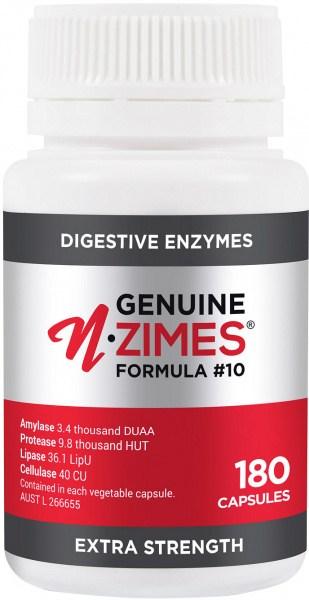 Genuine N-zimes Formula 10 Digestive Enzymes 180Caps