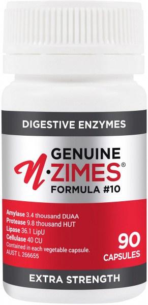 Genuine N-zimes Formula 10 Digestive Enzymes 90Caps