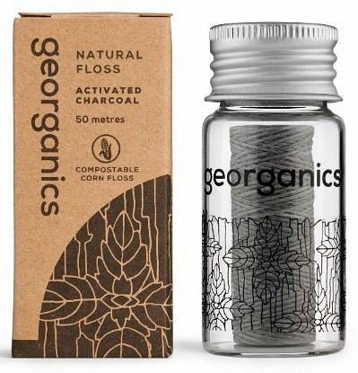 Georganics Natural Floss Activated Charcoal 50m
