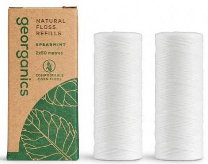 Georganics Natural Floss Refill Spearmint 2x50m