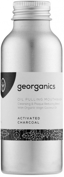 Georganics Oil Pulling Mouthwash Activated Charcoal 100ml