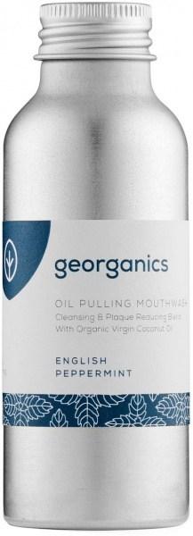Georganics Oil Pulling Mouthwash Peppermint 100ml