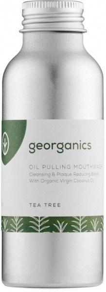 Georganics Oil Pulling Mouthwash Tea Tree 100ml MAR22