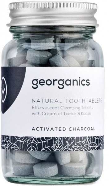 Georganics Toothtablets Activated Charcoal 120tabs