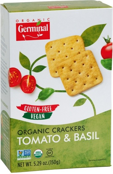 Germinal Organic Crackers Tomato & Basil  150g