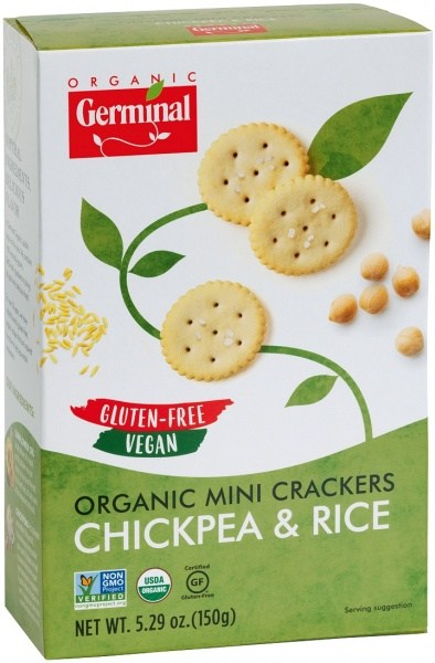 Germinal Organic Mini Crackers Chickpea & Rice  150g
