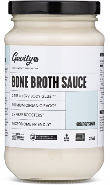 Gevity Rx Bone Broth Sauce Great Guts Mayo  375ml