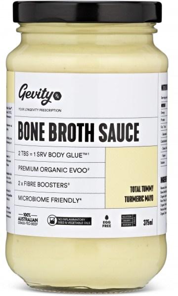 Gevity Rx Bone Broth Sauce Total Tummy Turmeric Mayo  375ml