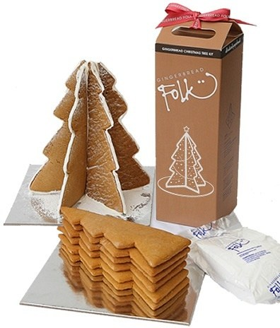 Gingerbread Folk Christmas Tree Kit 550g
