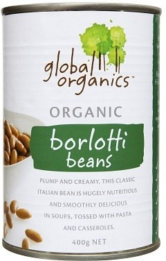 Global Organics Borlotti Beans 400g