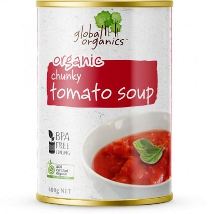 Global Organics Chunky Tomato Soup Can 400g