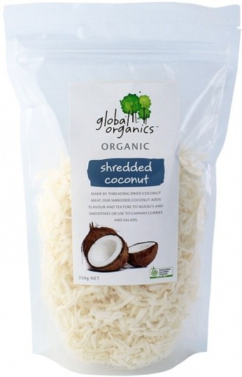 Global Organics Coconut Shredded 250g