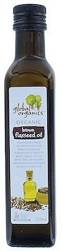 Global Organics Flaxseed Brown Cold Pressed Oil 250ml