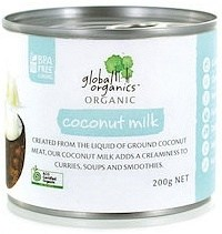 Global Organics Organic Coconut Milk  200g Can