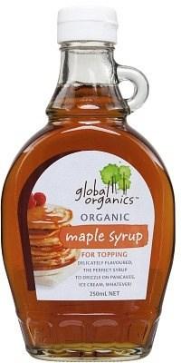 Global Organics Organic Maple Syrup 250ml