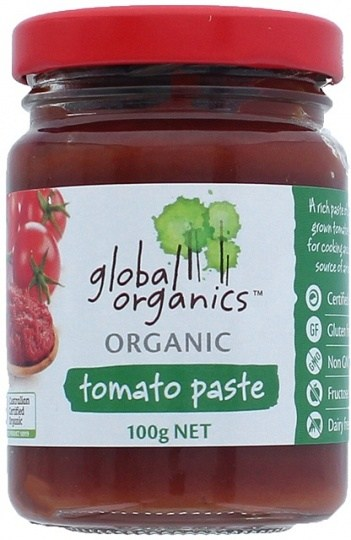 Global Organics Organic Tomato Paste Glass  100g