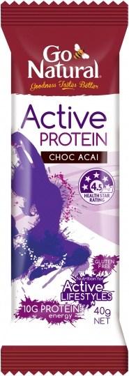 Go Natural Active Protein Choc Acai 16x40g