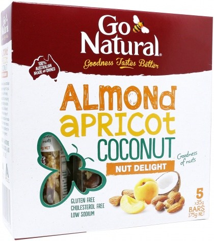 Go Natural Almond Apricot Coconut Nut Delight Bars  5x35g