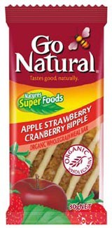 Go Natural Apple Strawberry Cranberry Ripple Meal Bar 10x80g