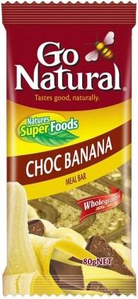 Go Natural Choc Banana Meal Bar Ripple 12x80g JUL18