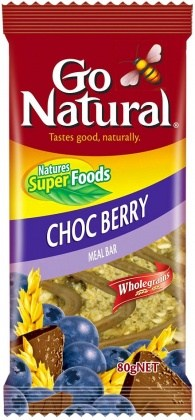 Go Natural Choc Berry Meal Bar 12x80g