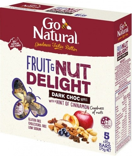 Go Natural Fruit & Nut Delight with Dark Chocolate Ripple 35g x 5 Bars