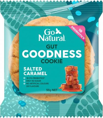 Go Natural Gut Goodness Cookie Salted Caramel 8x50g